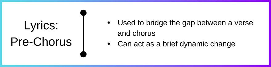 Lyrics - pre chorus